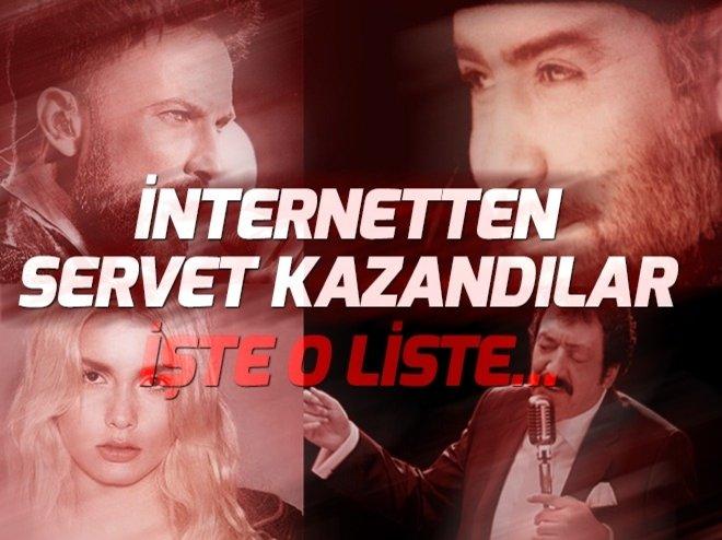 İnternetten servet kazandılar! İşte en çok izlenen ve en çok kazanan şarkıcılar