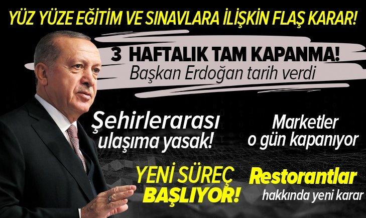 Başkan Recep Tayyip Erdoğan Kabine toplantısı sonrasında açıkladı! Tam kapanma geldi mi? Ramazanda sokağa çıkma kısıtlaması var mı?  haftalık kapanmaya dair tüm detaylar!