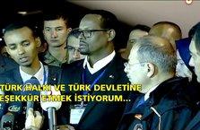 Türkiye'ye teşekkür ediyorum