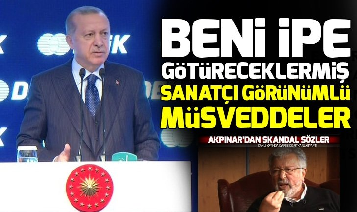 Başkan Erdoğan'dan Metin Akpınar ve Müjdat Gezen'in küstah sözlerine sert tepki