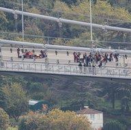 15 Temmuz Şehitler Köprüsünde Formula 1 tanıtım çekimleri havadan görüntülendi