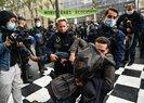 Fransada işçi sendikaları ve göçmenlerden protesto: Macron senden tüm kalbimle nefret ediyorum!