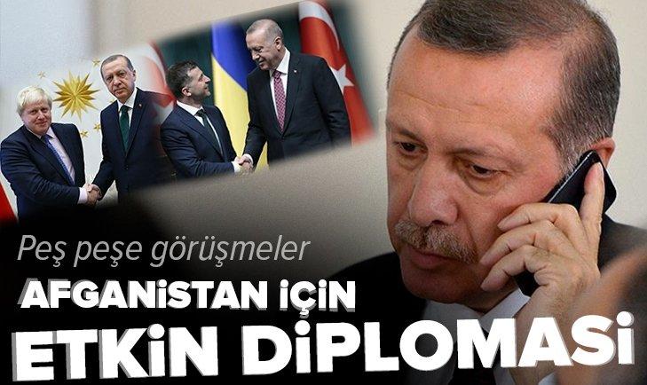Başkan Erdoğan'dan peş peşe görüşmeler   Afganistan için etkin diplomasi