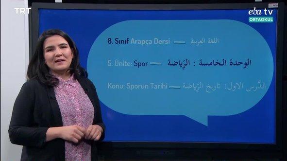 8. Sınıf Arapça Konu: Sporun Tarihi