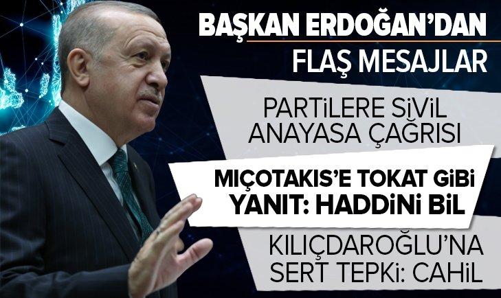 Başkan Erdoğan'dan partilere sivil Anayasa çağrısı!