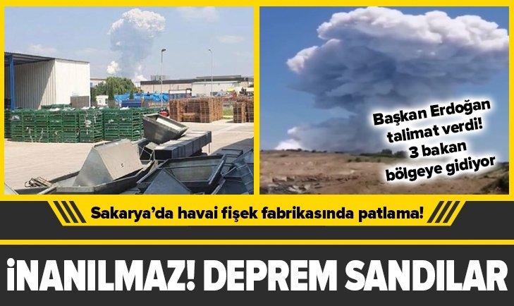 Sakarya'da havai fişek fabrikasında patlama!
