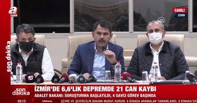 Son dakika: Bakanlar İzmir depremi hakkında flaş açıklamalarda bulundu