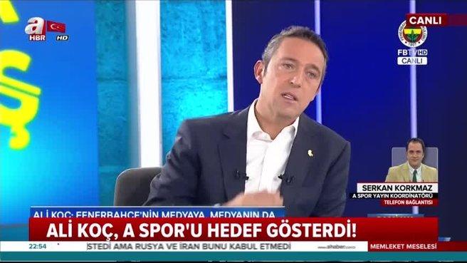 A Spor'dan Ali Koç'a yanıt!