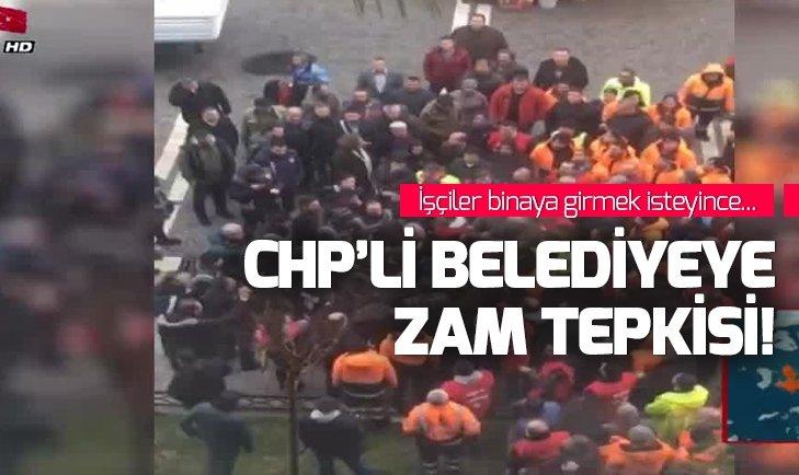 İşçiler belediye binasını bastı