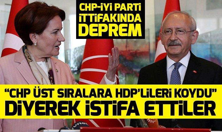 CHP-İYİ Parti ittifakında deprem: CHP üst sıralara HDPlileri koydu diyerek istifa ettiler