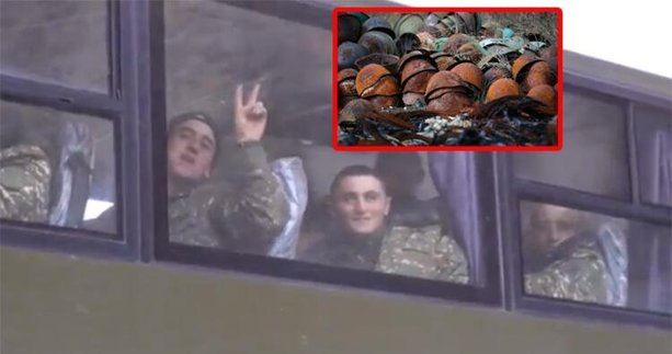 Ermeni askerlerinin yüzsüzlüğü böyle görüntülendi! Bunlarda gurur da kalmamış