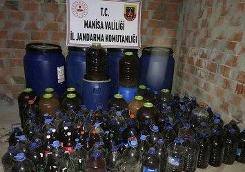 Son dakika: Manisa'da 4 bin 200 litre kaçak içki ele geçirildi