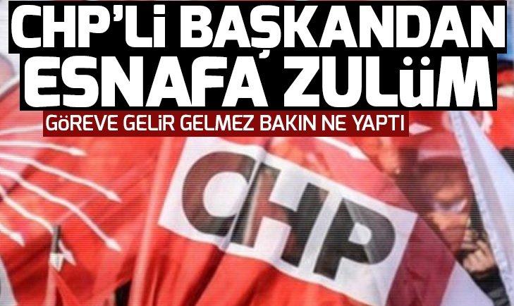 CHP'li Torbalı Belediye Başkanı'ndan esnafa seçim cezası