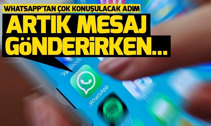 WhatsApp mesajlarında radikal değişiklik