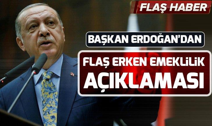 Başkan Erdoğan'dan Emeklilikte Yaşa Takılanlar hakkında açıklama