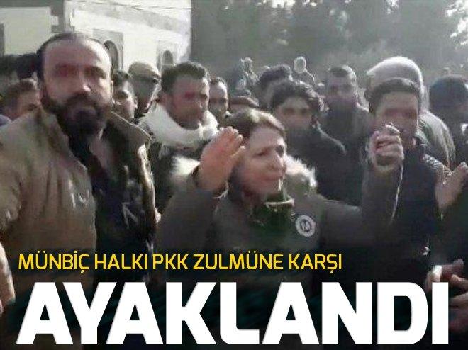 MÜNBİÇ HALKI PYD/PKK'NIN VAHŞETİNE KARŞI AYAKLANDI