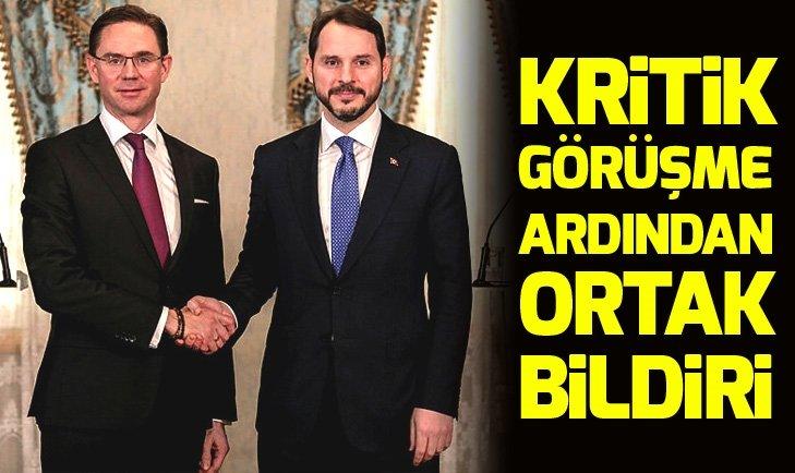 Hazine ve Maliye Bakanlığı Türkiye-AB YDED ortak bildirisini yayımladı