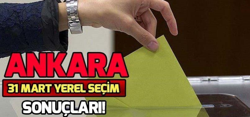 ANKARA 31 MART YEREL SEÇİM SONUÇLARI!