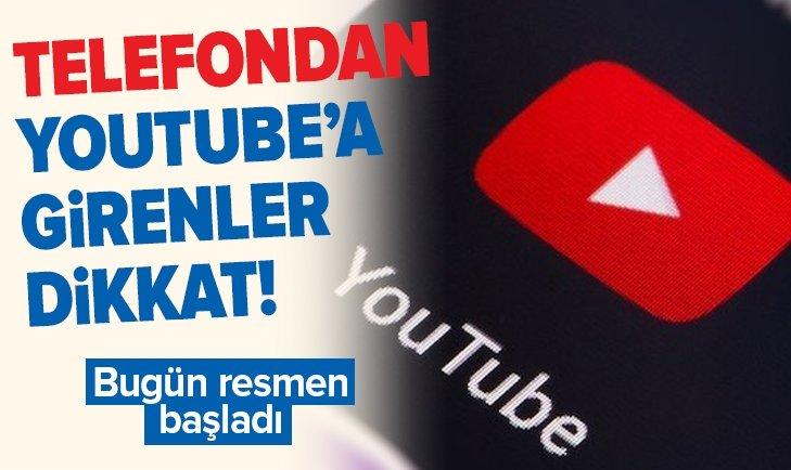 TELEFONDAN YOUTUBE'A GİRENLER DİKKAT!