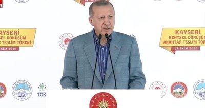 Son dakika: Başkan Erdoğan'dan Kentsel Dönüşüm Anahtar Teslim Töreni'nde önemli açıklamalar