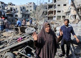 Filistinli ailelerin evleri İsrail bombalarıyla yerle bir oldu!