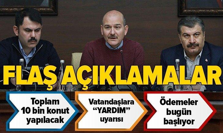 DEPREMİN ARDINDAN 4. GÜN! FLAŞ AÇIKLAMLAR...