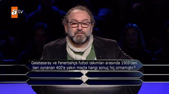 Kim Milyoner Olmak İster'de dikkat çeken derbi sorusu!