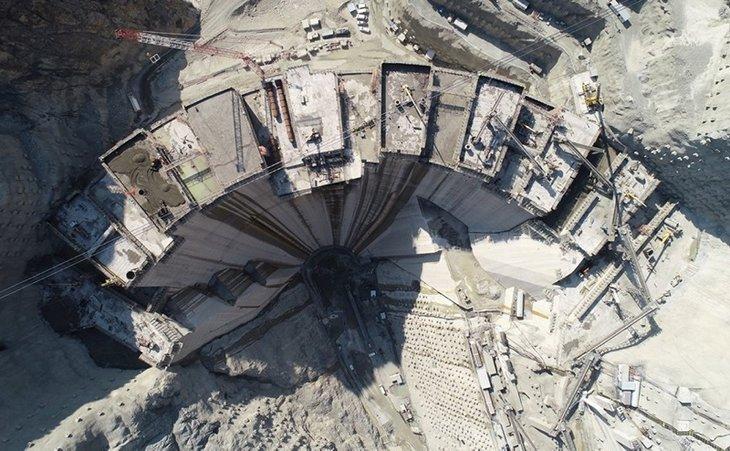 Artvin Yusufeli Barajı son haliyle görüntülendi