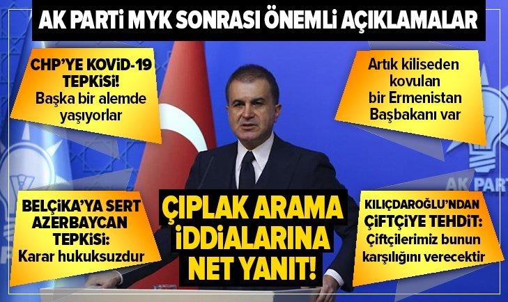 AK Parti MYK sonrası kritik açıklamalar