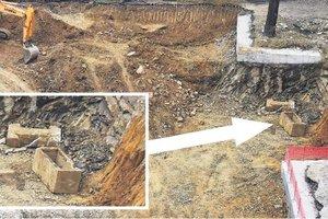 Okul inşaatından Roma lahdi çıktı