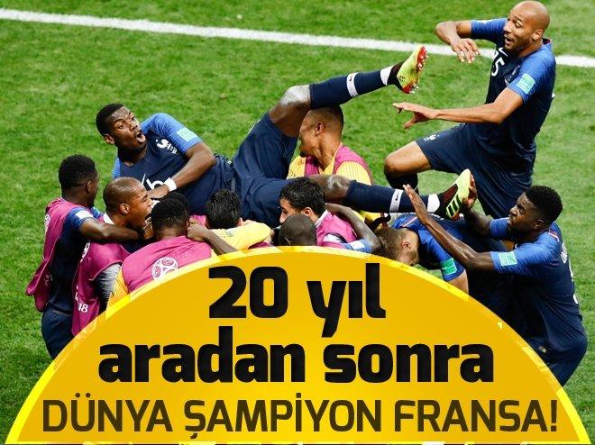 Fransa Dünya Şampiyonu oldu!