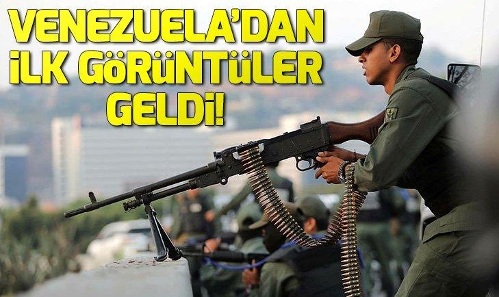 Venezuela'da darbe girişimi! İlk görüntüler geldi