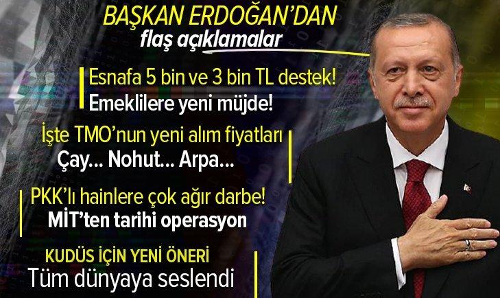 Başkan Recep Tayyip Erdoğan yeni müjdeleri son dakika olarak açıkladı! Esnafa verilecek destekler neler? 1 Haziran sonrası ne olacak?