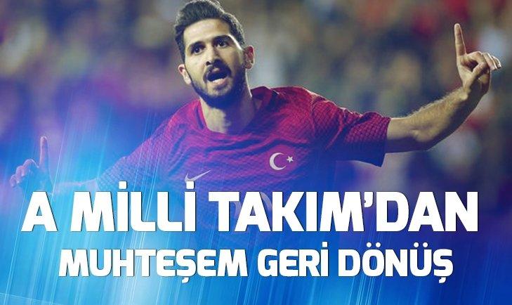A MİLLİ TAKIM'DAN MUHTEŞEM GERİ DÖNÜŞ!