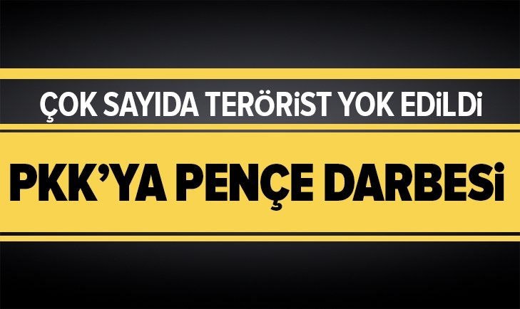 9 terörist yok edildi