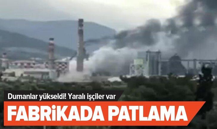 FABRİKADA KORKUTAN PATLAMA!