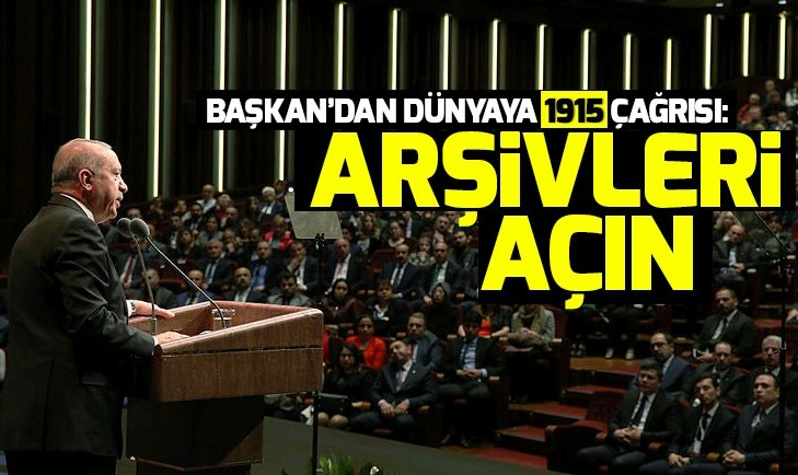 Başkan Erdoğandan 1915 mesajı!