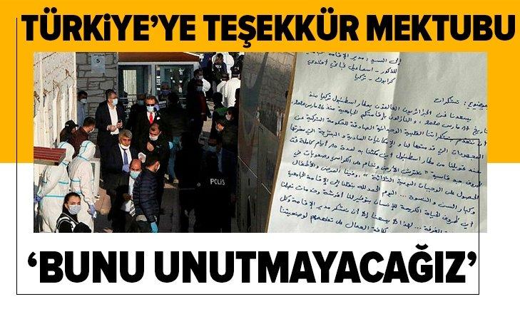 CEZAYİRLİLERDEN TÜRKİYE'YE TEŞEKKÜR MEKTUBU!