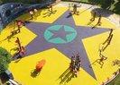 İstanbul Küçükçekmecedeki çocuk parkında PKK sembolleri! Başsavcılık soruşturma başlattı