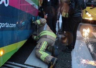 ''Bebeğim orada'' dedi otobüsün altına girdi