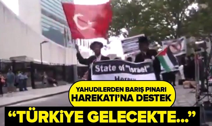 YAHUDİLERDEN BARIŞ PINARI HAREKATI'NA DESTEK