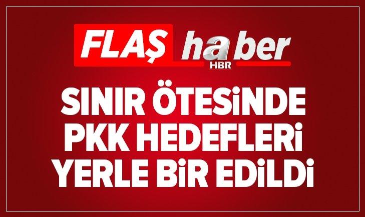SINIR ÖTESİNDE PKK HEDEFLERİ YERLE BİR EDİLDİ
