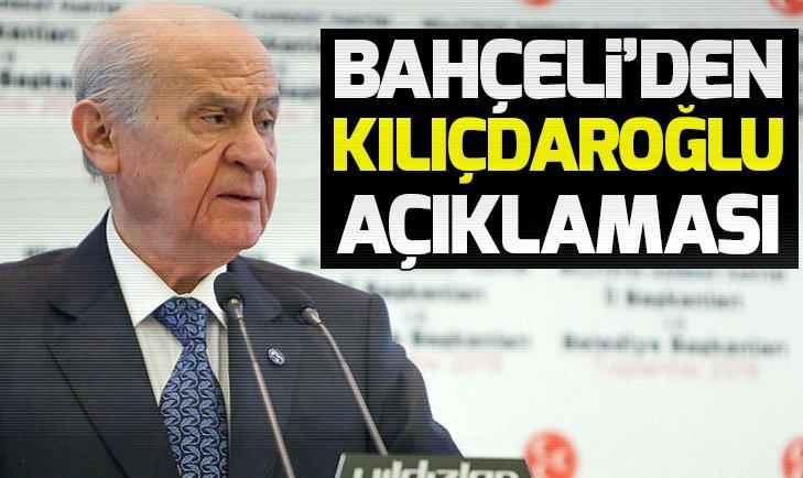 Devlet Bahçeli'den Kemal Kılıçdaroğlu açıklaması