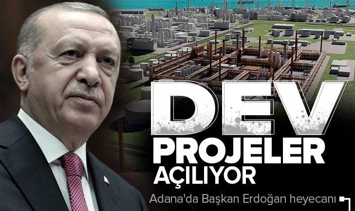 Son dakika: Adana'da Başkan Erdoğan heyecanı! Dev projeler açılıyor