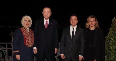 Başkan Recep Tayyip Erdoğan Huber Köşkü'nde Zelenskiy ile akşam yemeğinde bir araya geldi