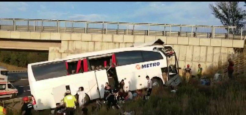 Son dakika: Sarıyer Kuzey Marmara Otoyolu'nda otobüs yoldan çıktı: Çok sayıda ölü ve yaralı var