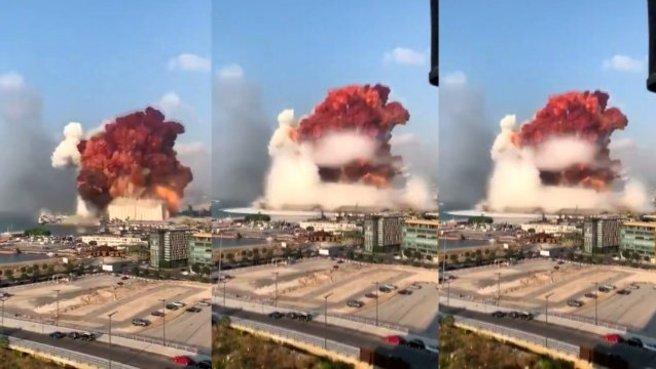 Son dakika: Lübnan'ın başkenti Beyrut'ta büyük patlama! İşte ilk ...