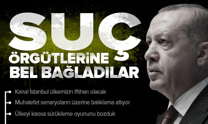Son dakika... Başkan Erdoğan: Suç örgütlerine bel bağladılar