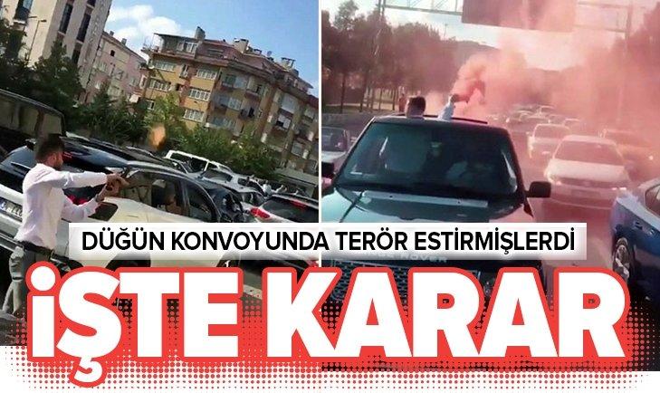 İSTANBUL'DAKİ DÜĞÜN KONVOYUNDA TERÖR ESTİREN 6 MAGANDA TUTUKLANDI