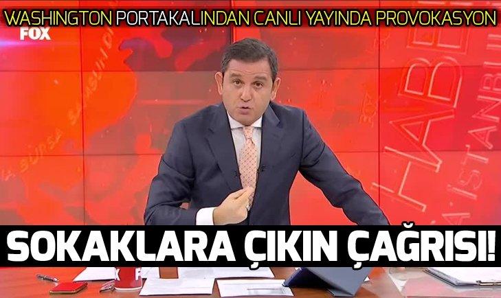 Fatih Portakaldan canlı yayında provokasyon!